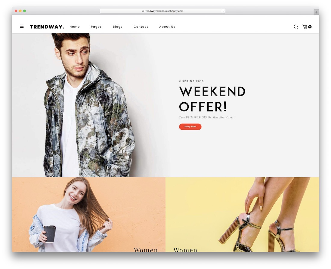 trendway shopify theme for t-shirts