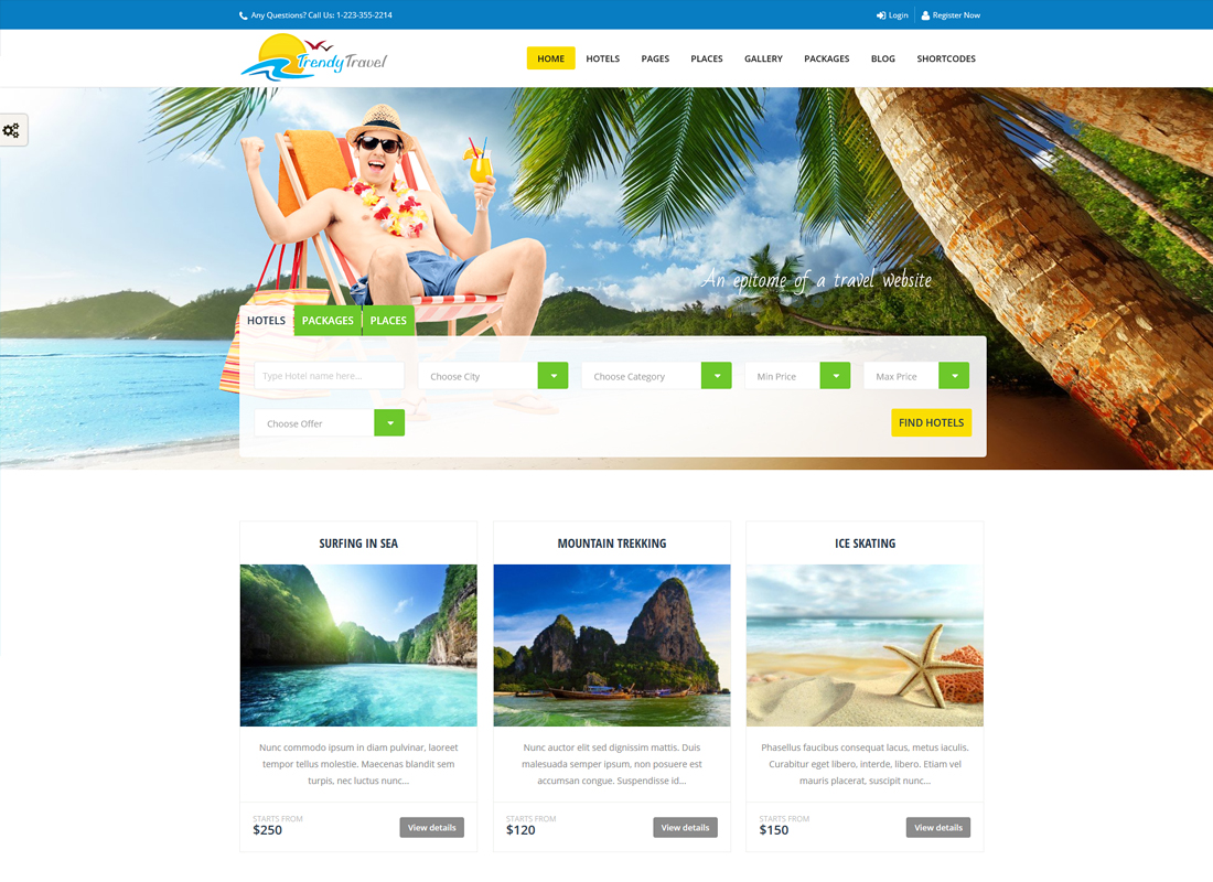 Trendy Travel | Tour, Travel & Travel Agency WordPress Theme