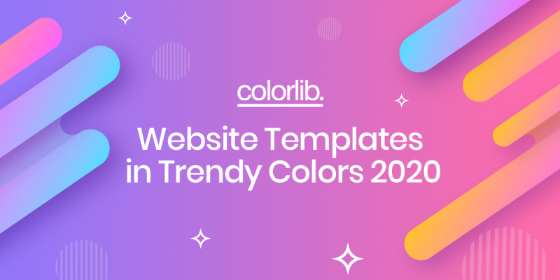 16 Website Templates In Trendy Colors 2020