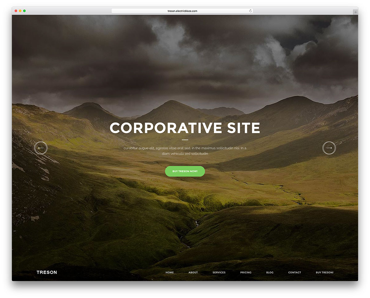 treson-fullscreen-one-page-business-landing-page