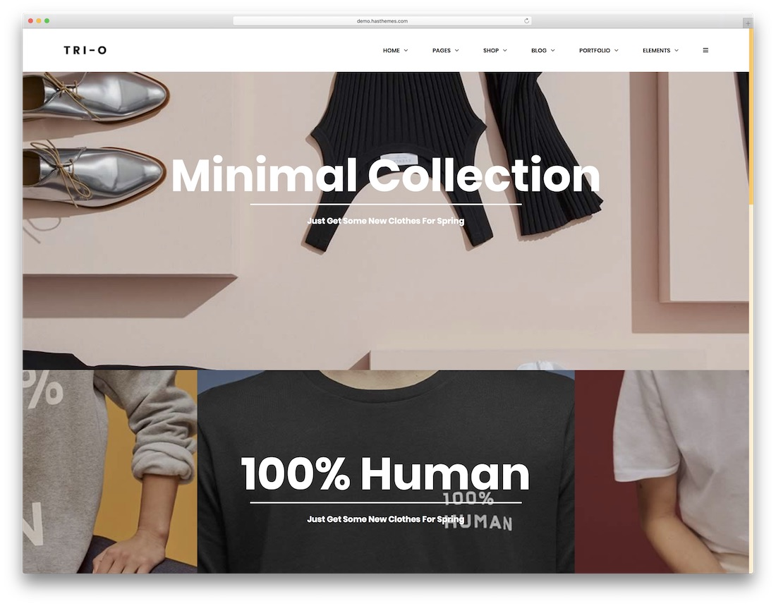 trio fashion website template