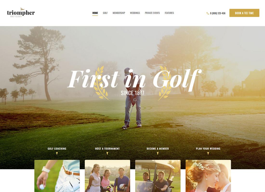 Triompher - Golf Club WordPress Theme