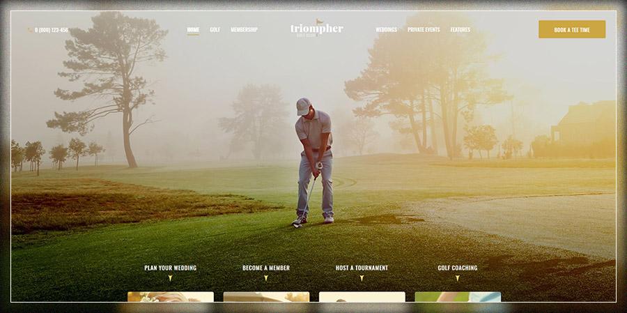 Triompher | Golf Club WordPress Theme