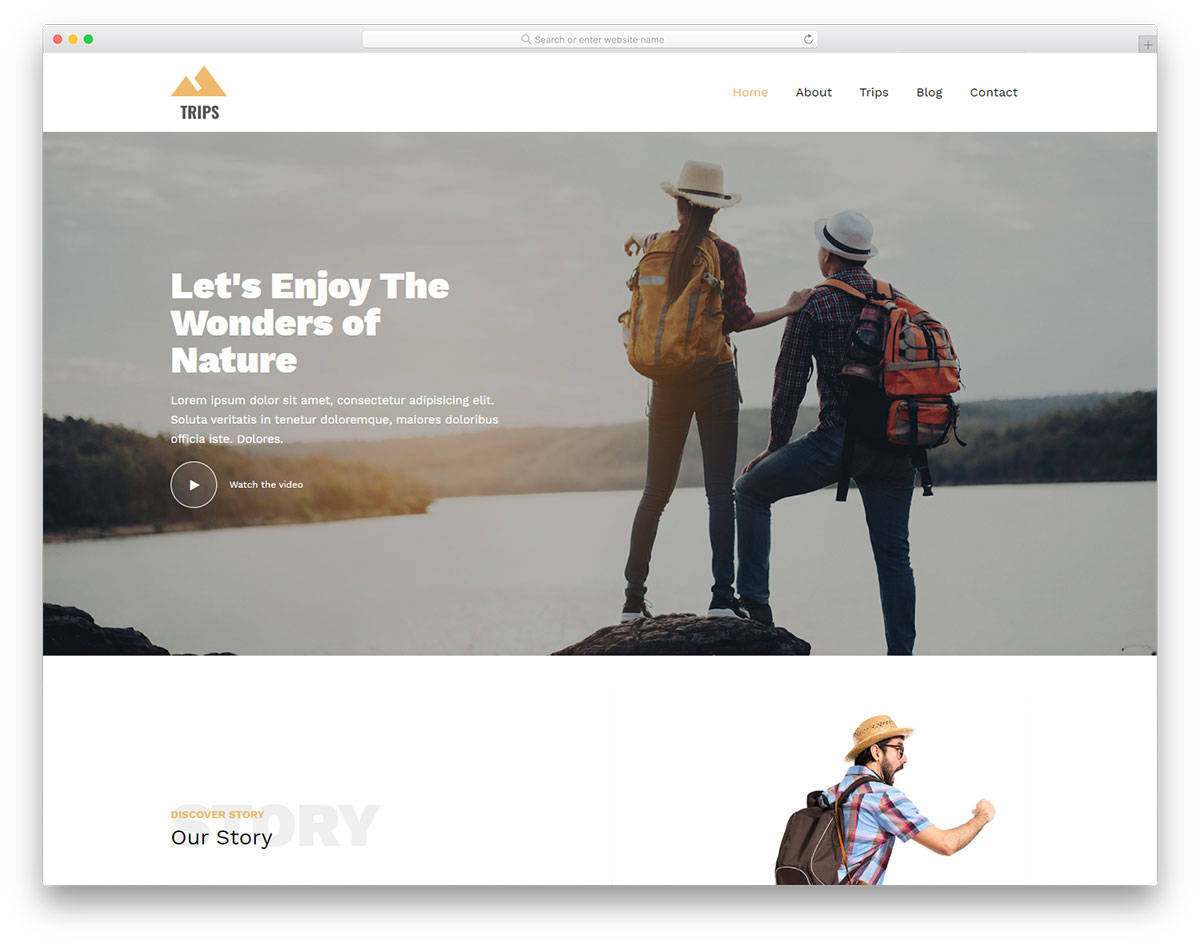 Trips Free Template Top 10 free travel website templates