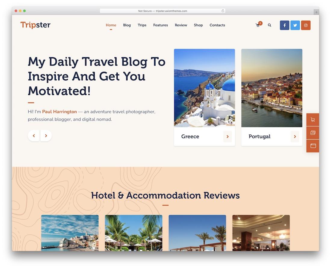tripster wordpress travel theme