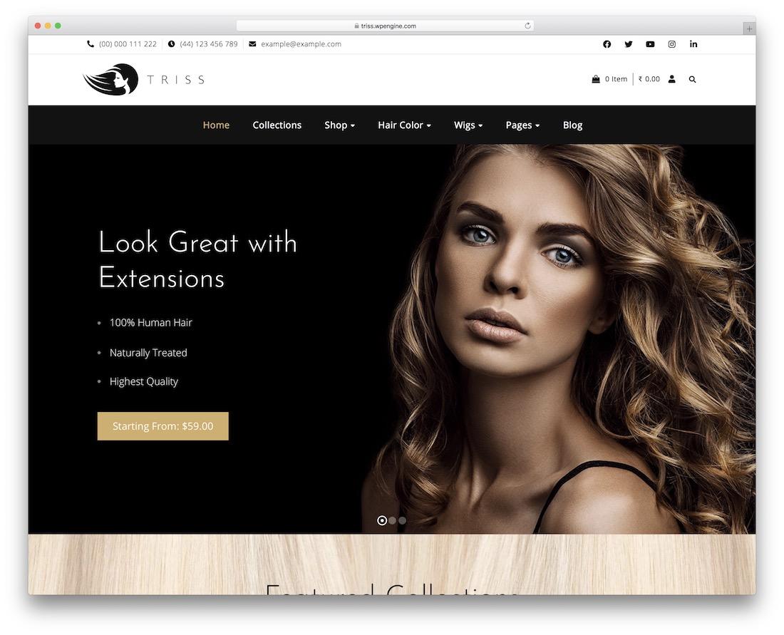 triss hair salon wordpress theme