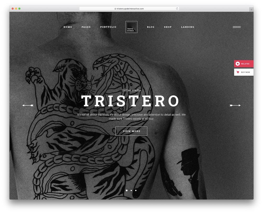 tristero tattoo salon wordpress theme