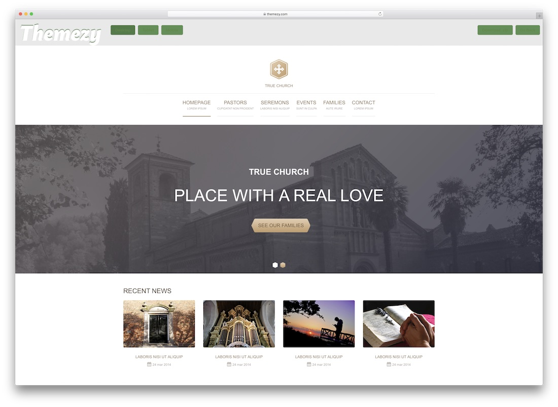 true church website template