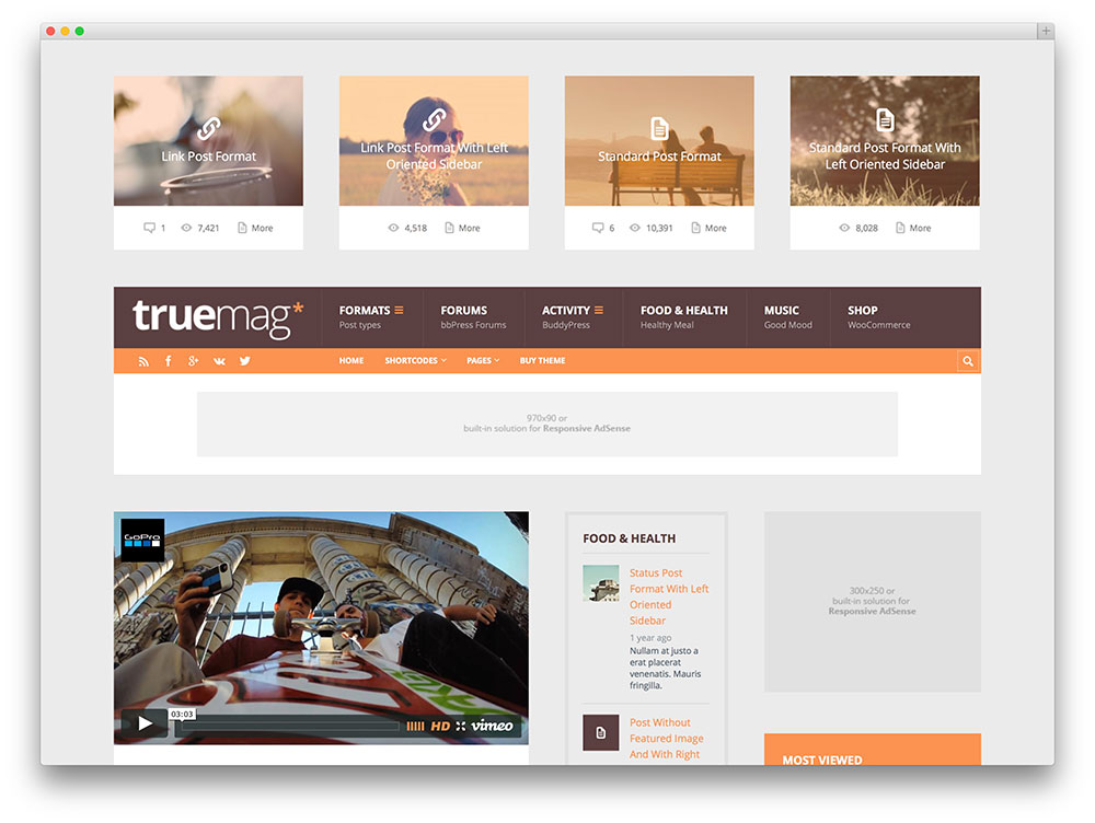truemag adsense optimized themes