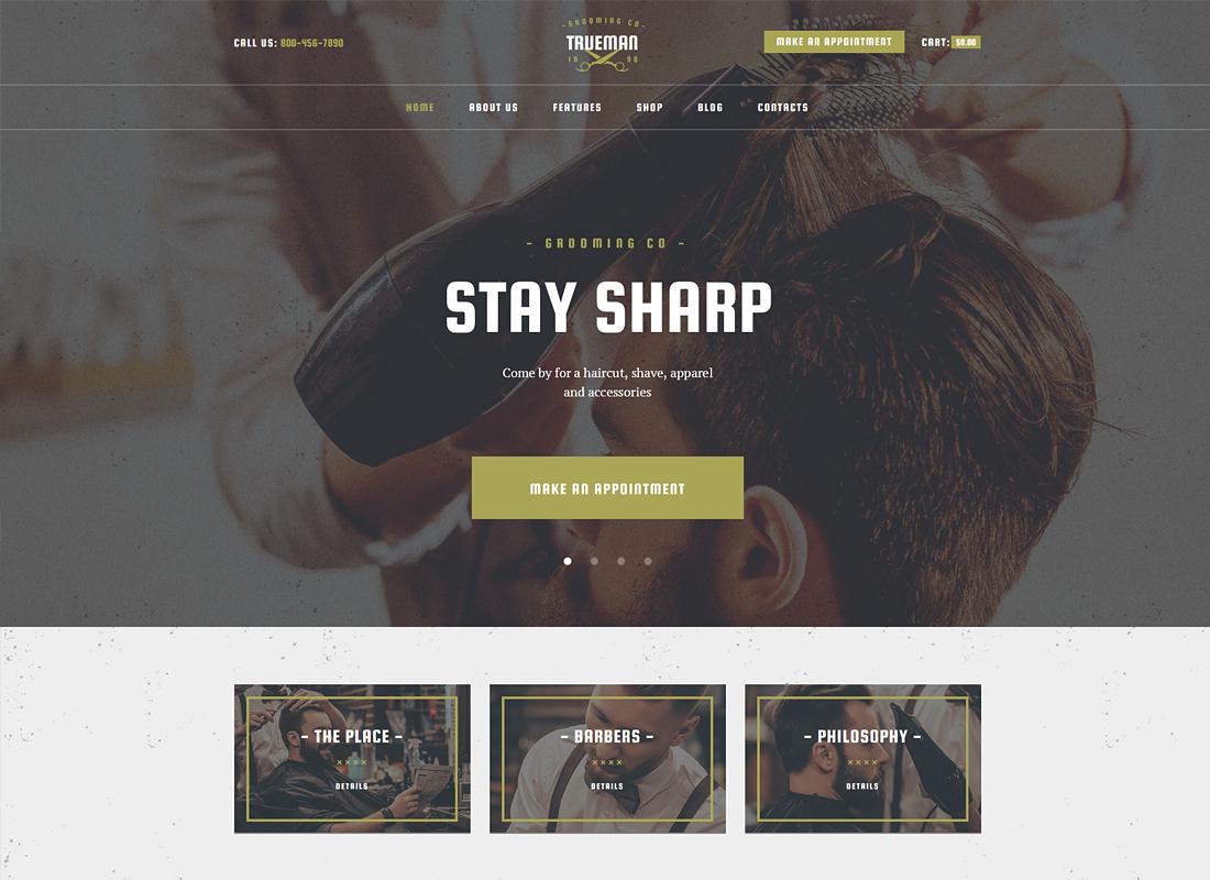 Trueman | Hairdressers & Barbershop WordPress Theme