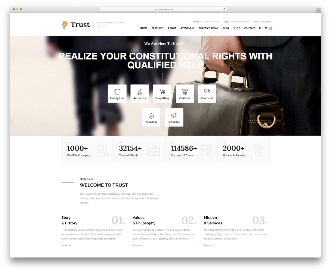 trust drupal business template