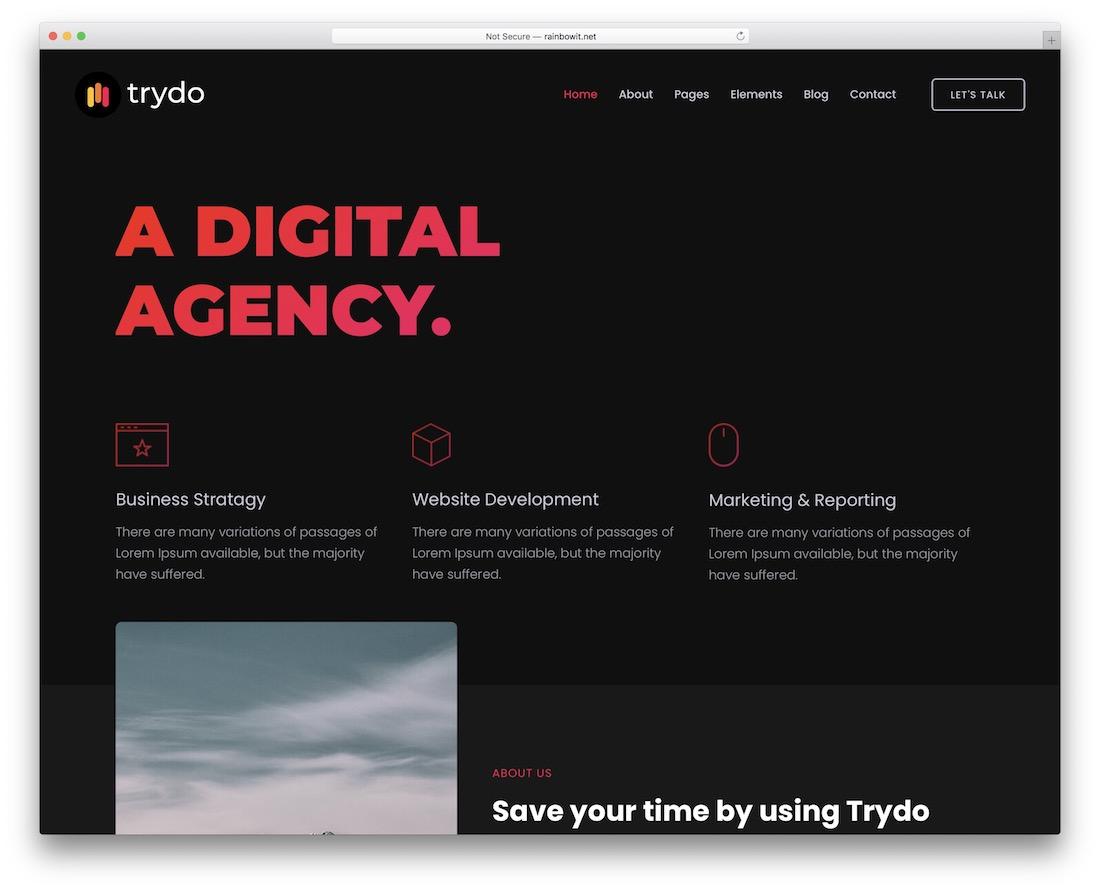 trydo seo friendly website template