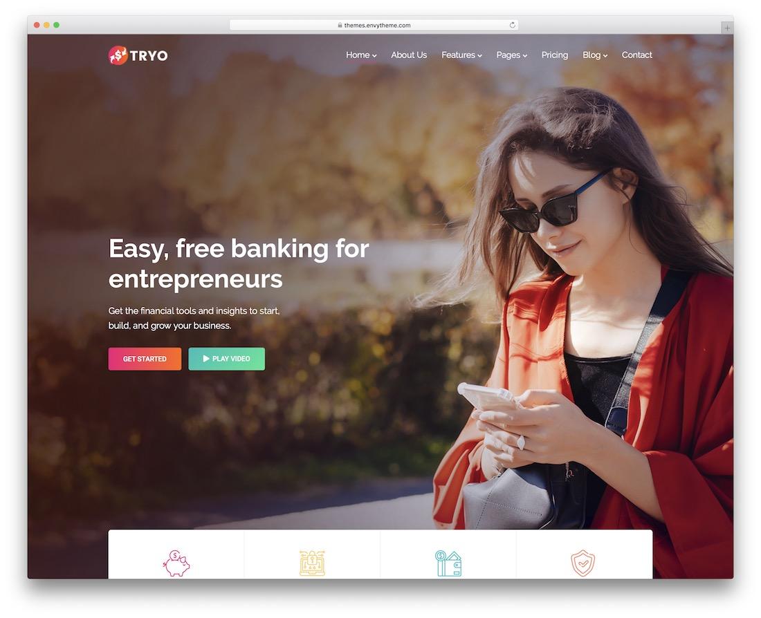 tryo financial company wordpress theme