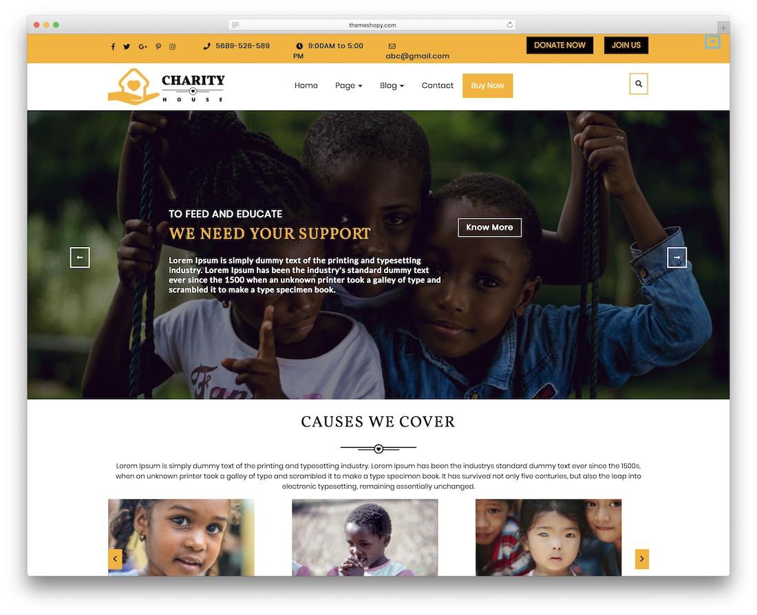 ts charity free church wordpress theme