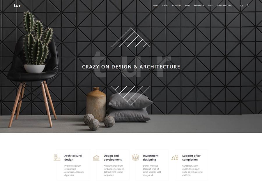 Architecture & Interior Design Tur - Architecture & interior Design WordPress for Architecture