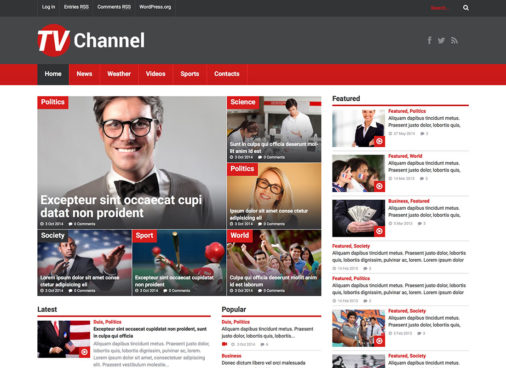 Tvchannel Media Wordpress Themes
