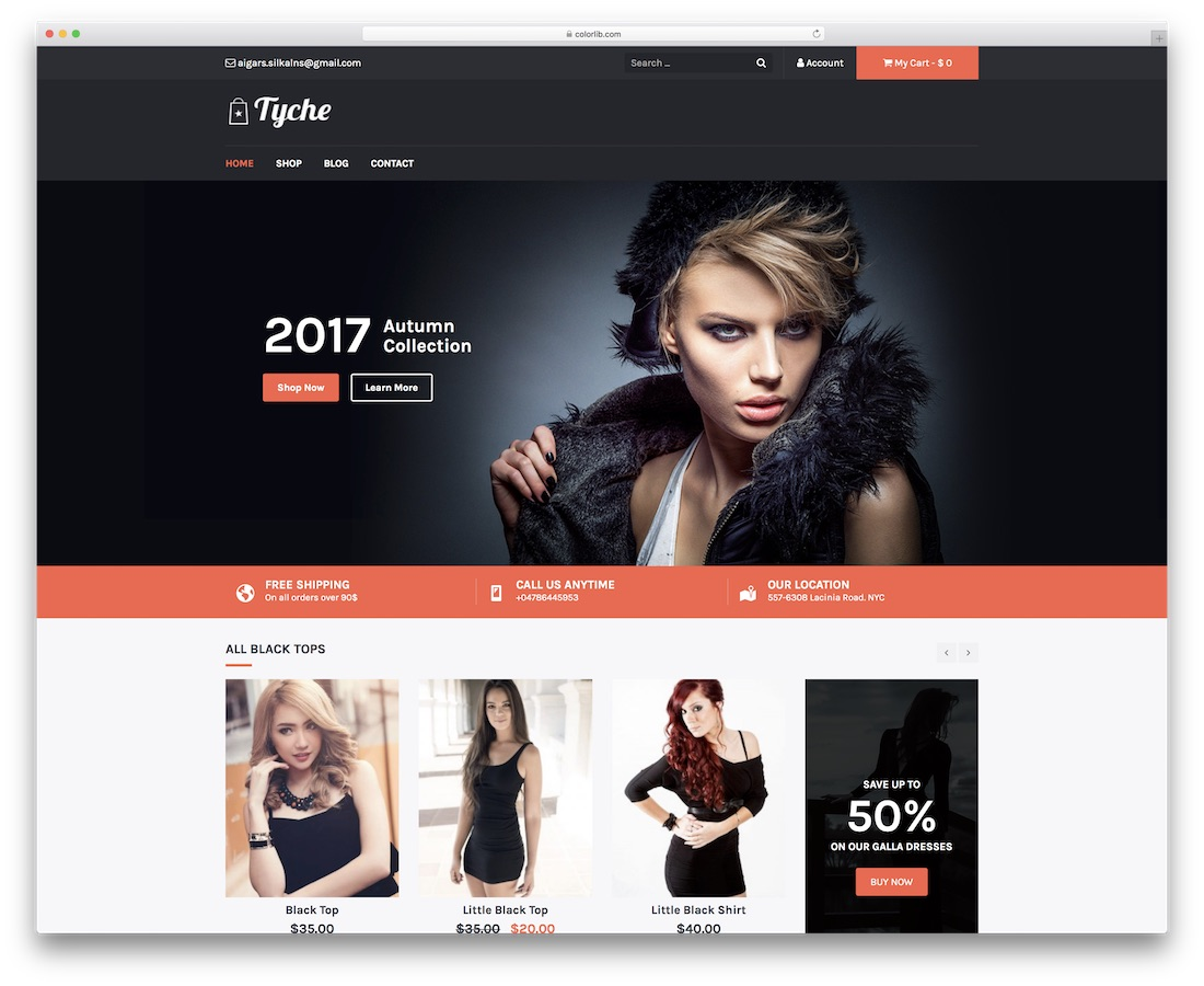 tyche free website template