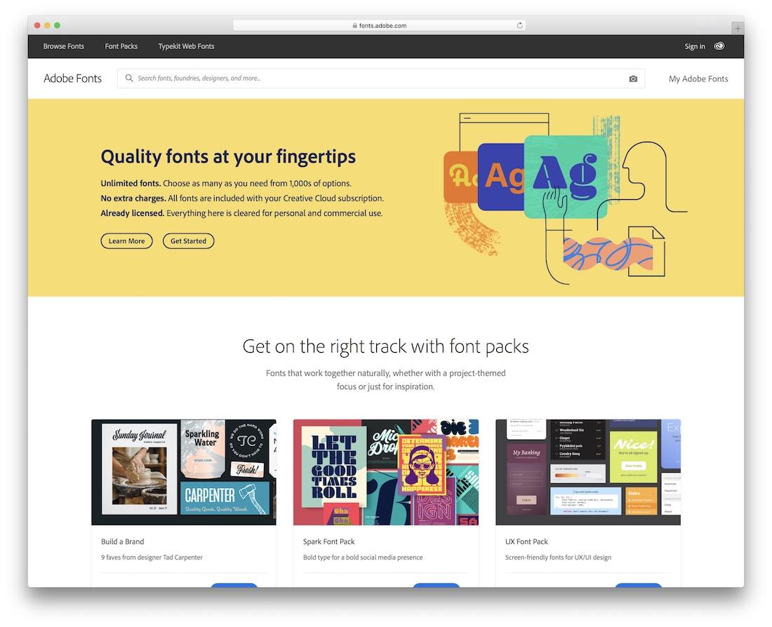 typekit free typography resource