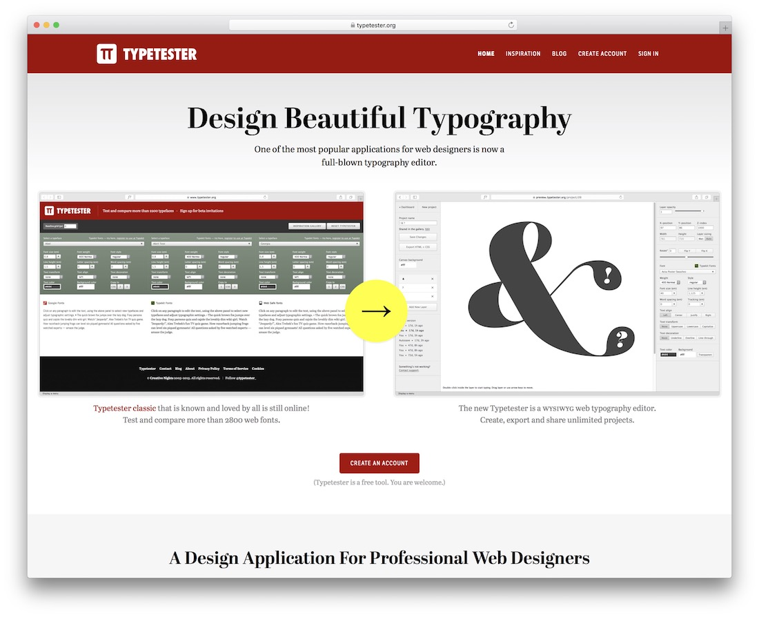 typetester free typography resource