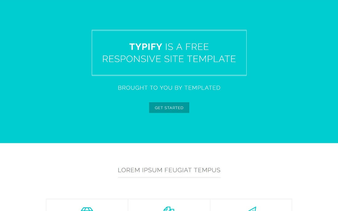 typify free simple html template