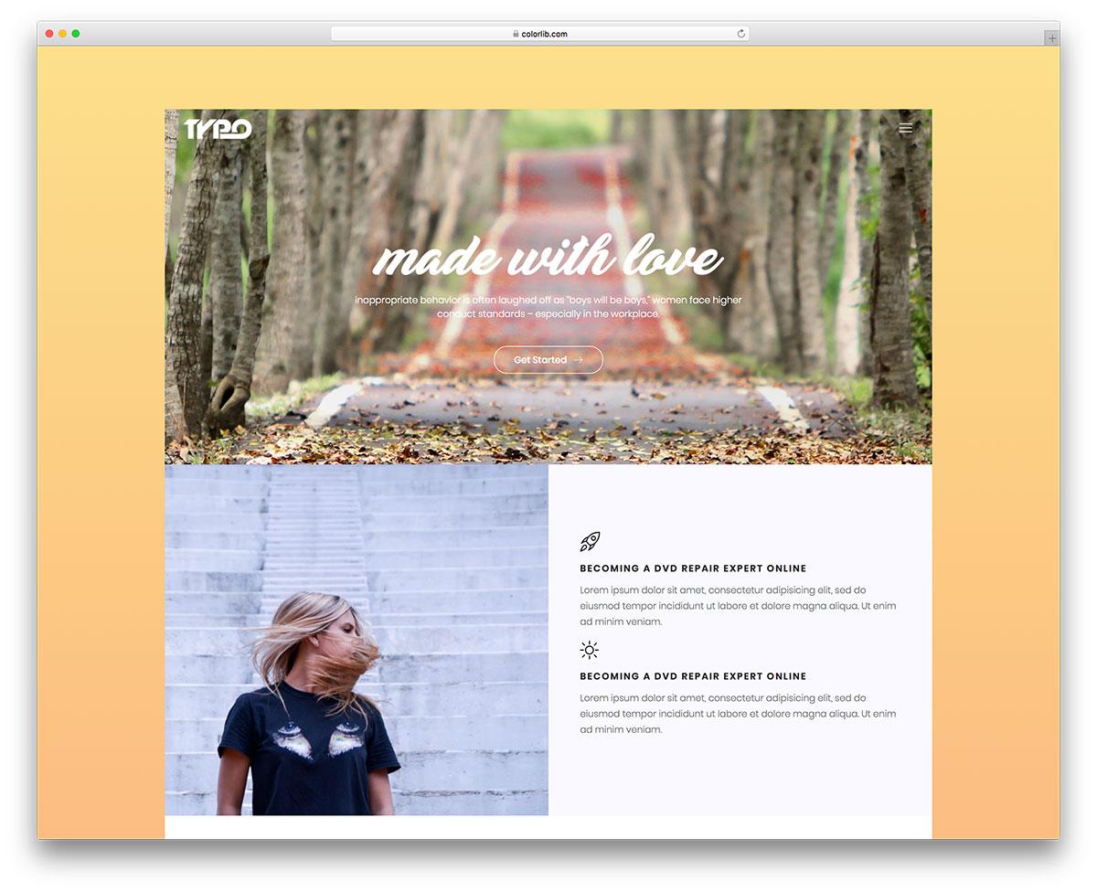 Скачать бесплатно html шаблон Typo
