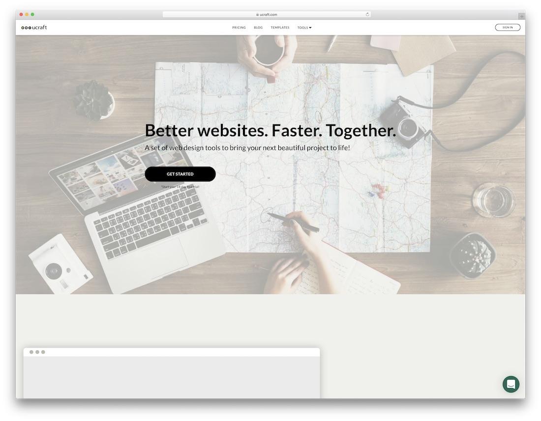 ucraft best one page website builder
