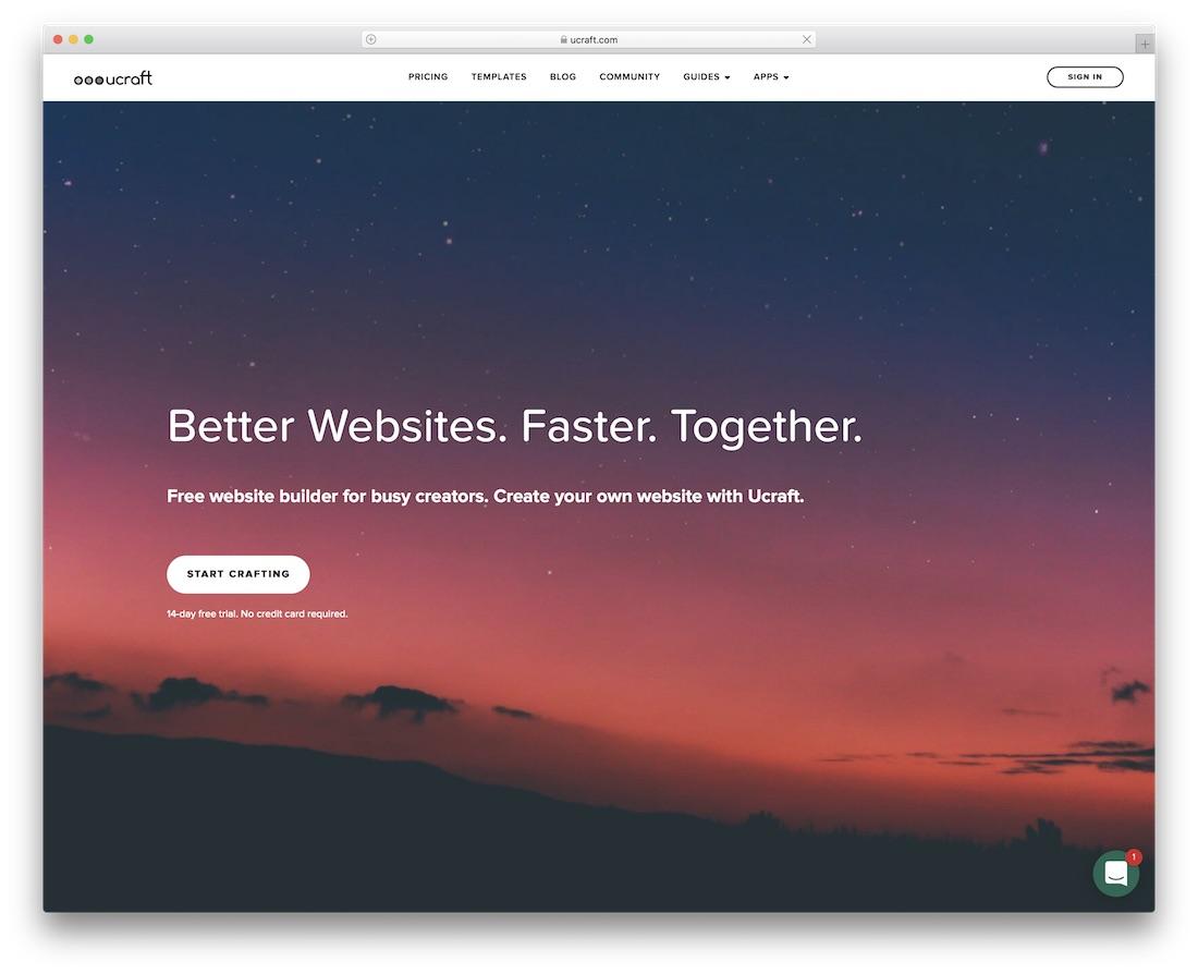 ucraft community website builder