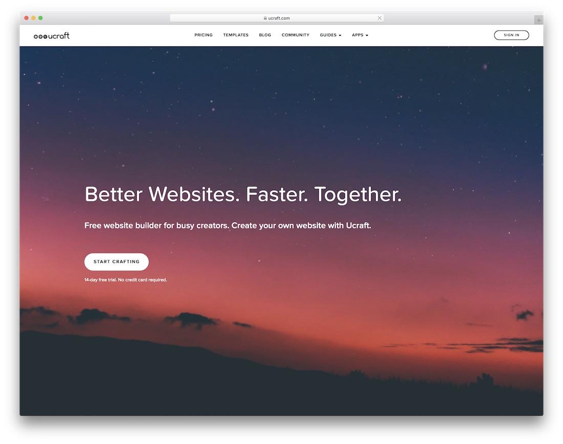 ucraft free website builder