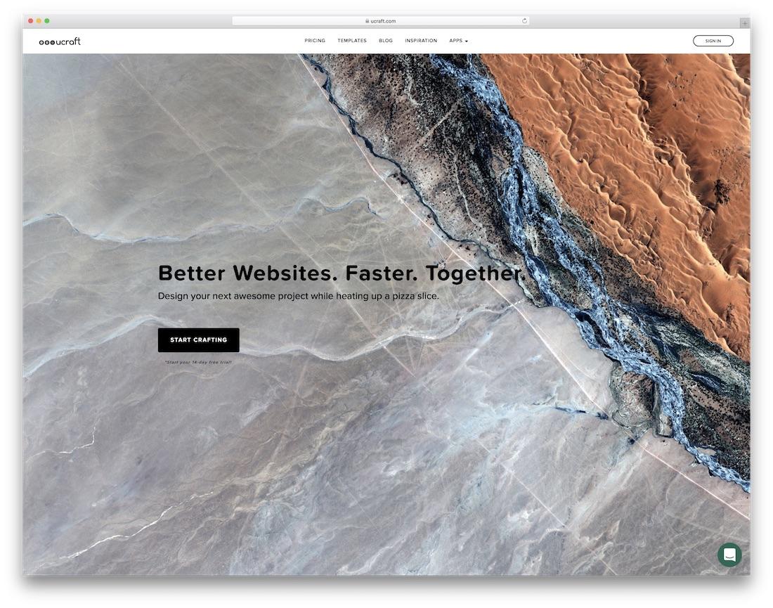 ucraft travel agency website builder