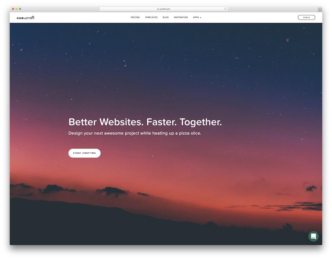 ucraft website builder for fitness studio