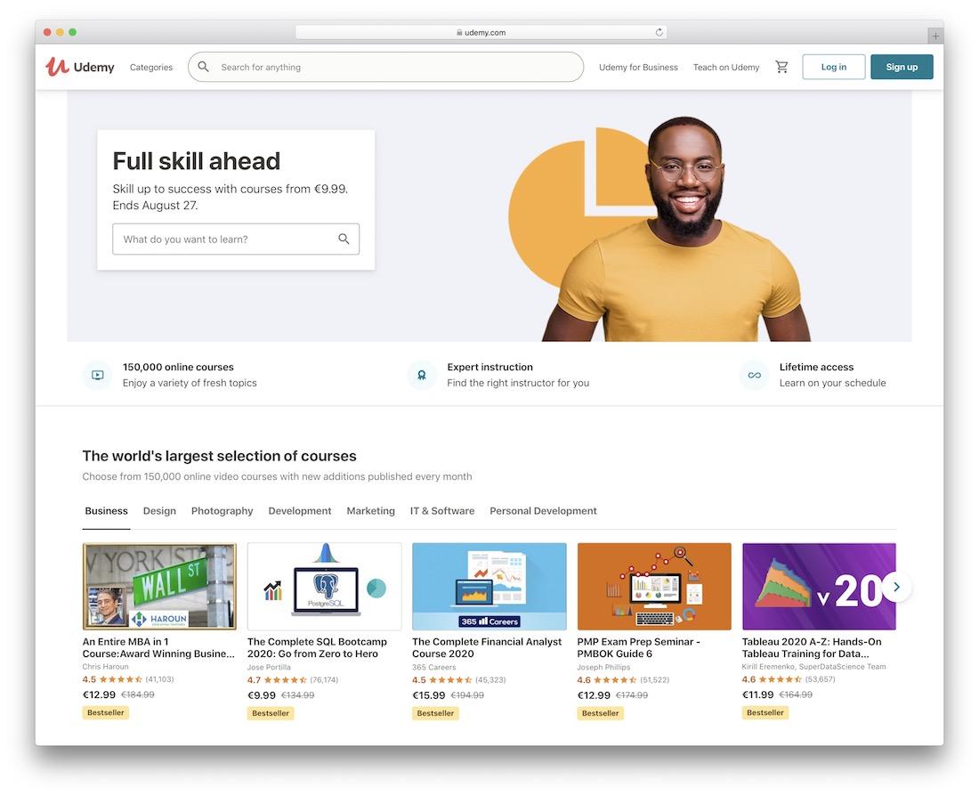 udemy learn javascript online