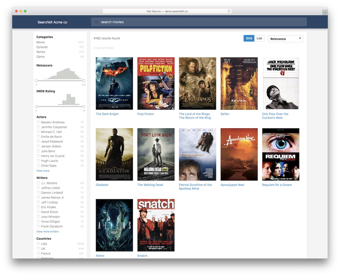 ui components for elasticsearch