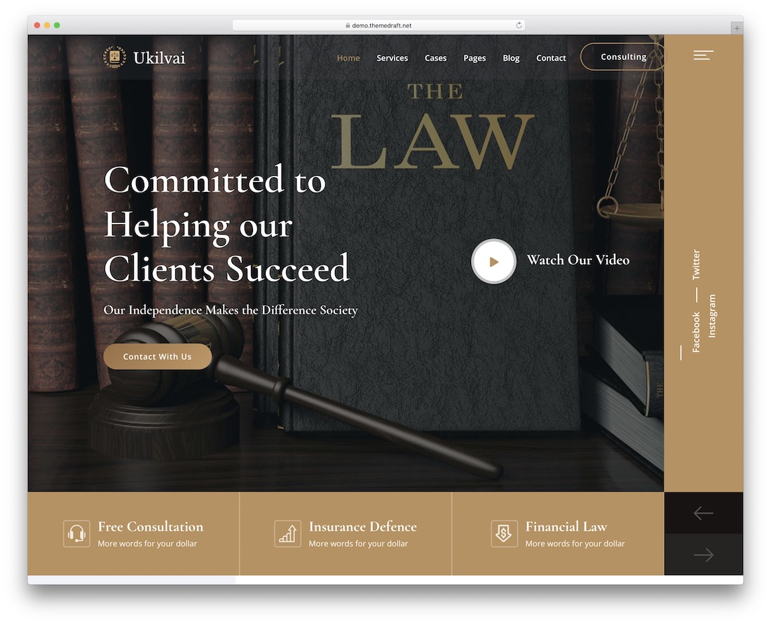 ukilvai law website template