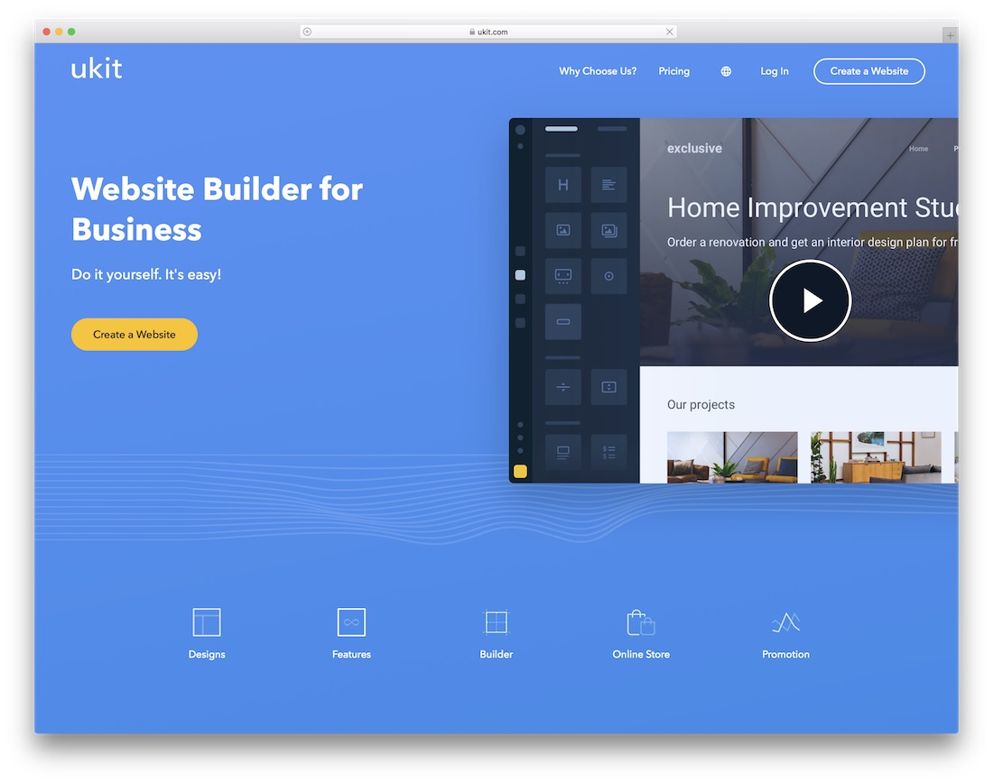 ukit website builder for construction company