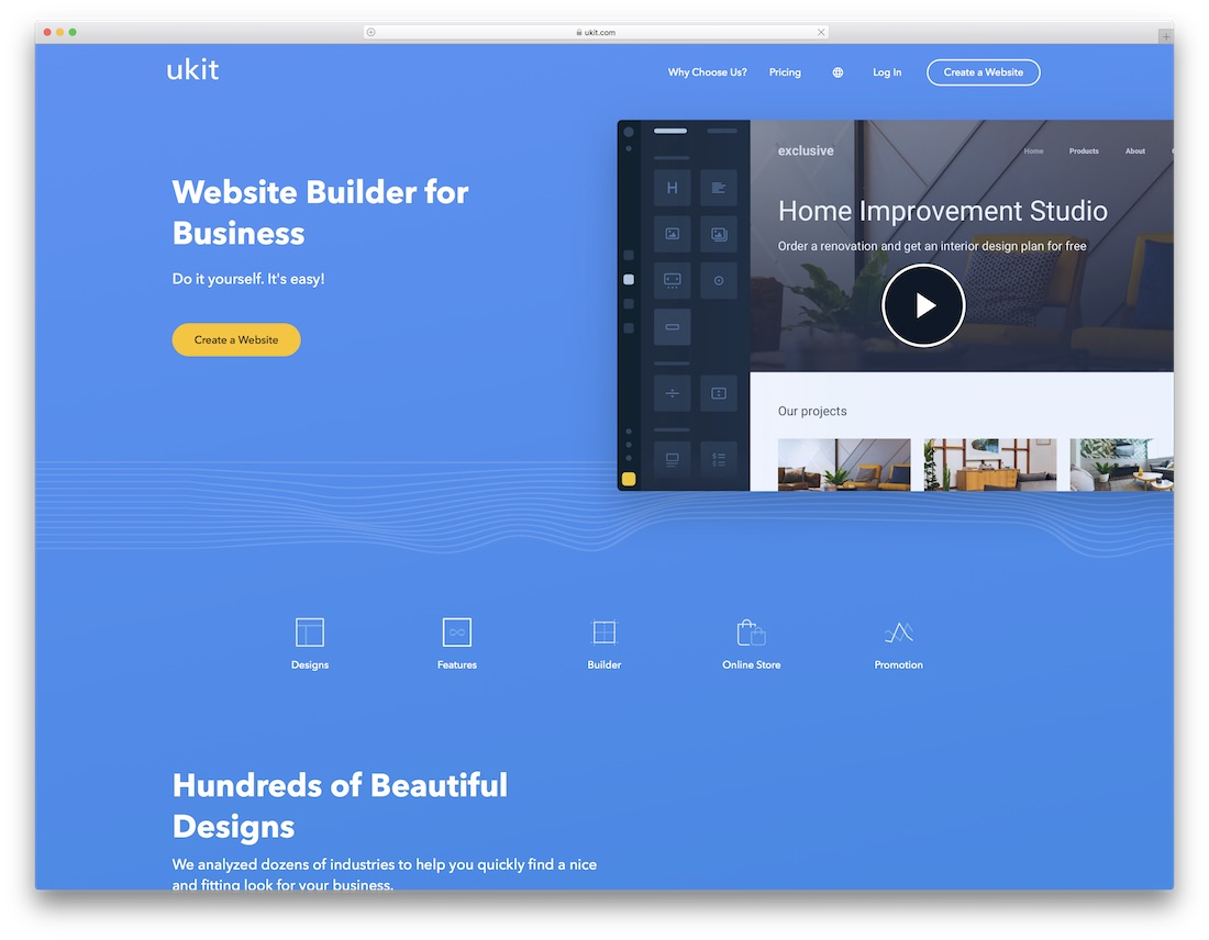 ukit website builder for designers