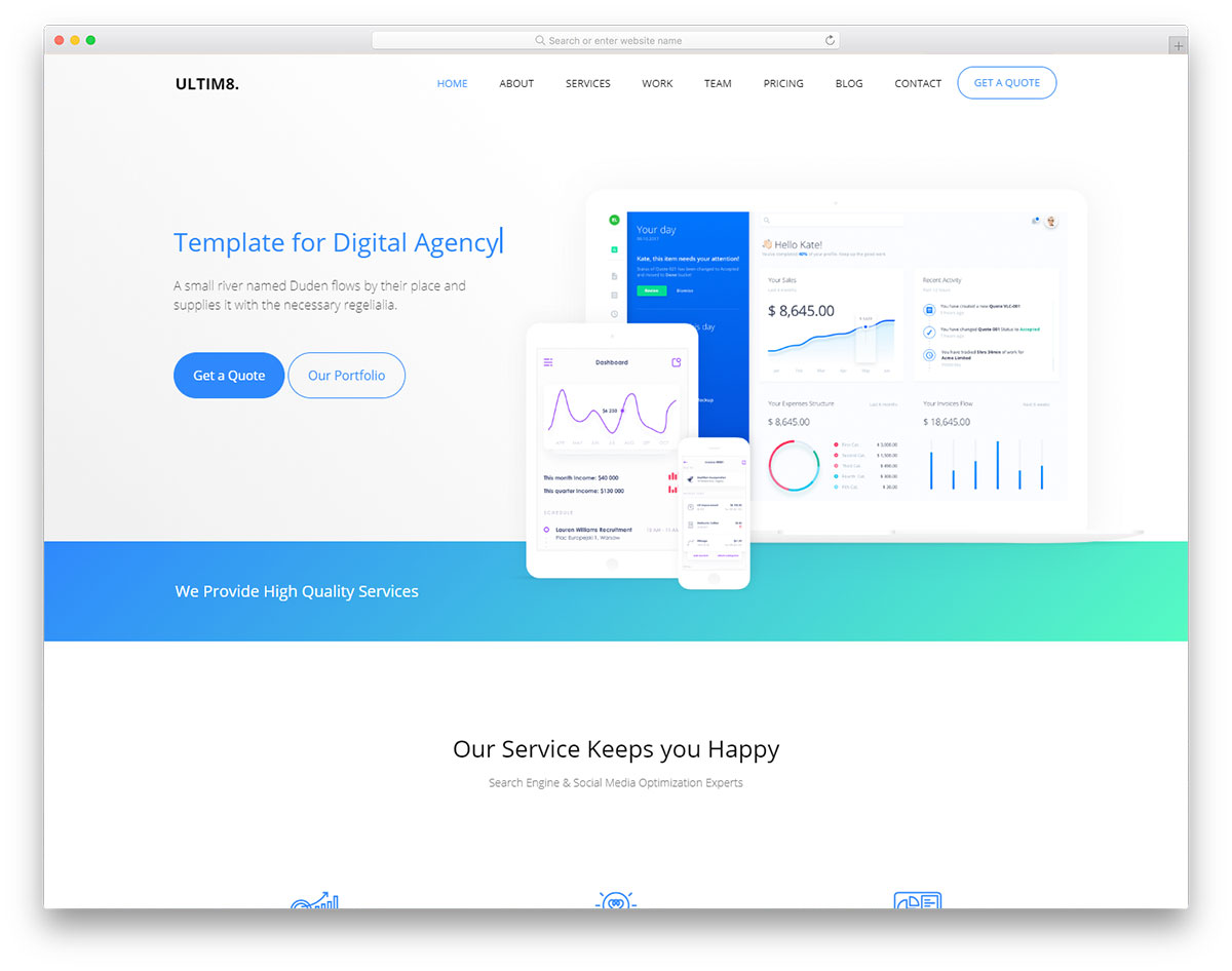 Best free business website templates 2018 colorlib ultim8 wajeb Image collections