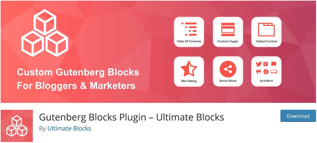 ultimate blocks free wordpress plugin