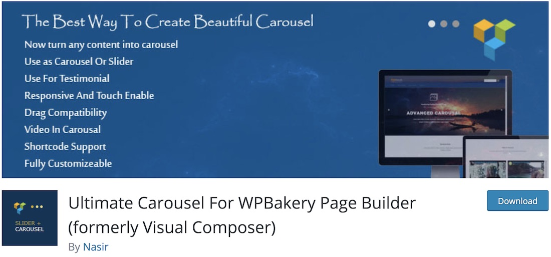 ultimate carousel wpbakery extension