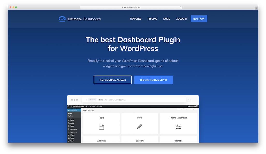 ultimate dashboard wordpress plugin
