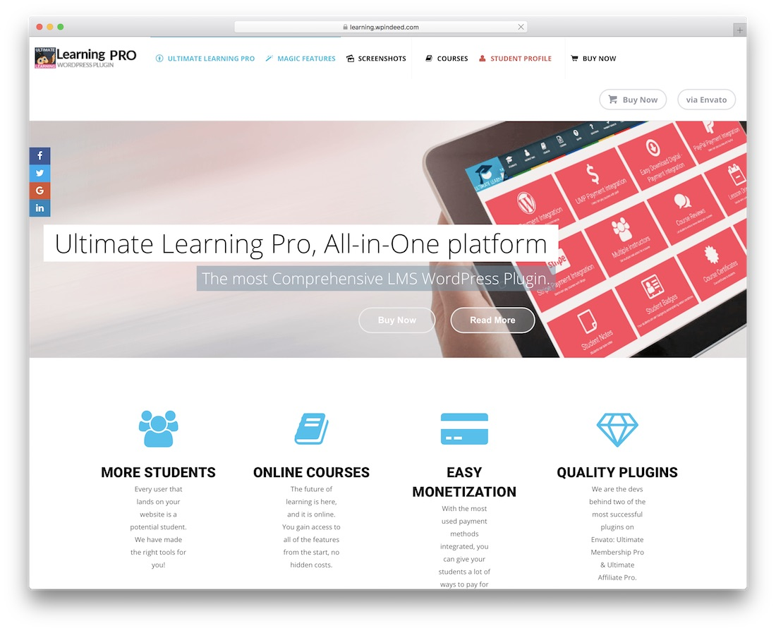 ultimate learning pro wordpress plugin