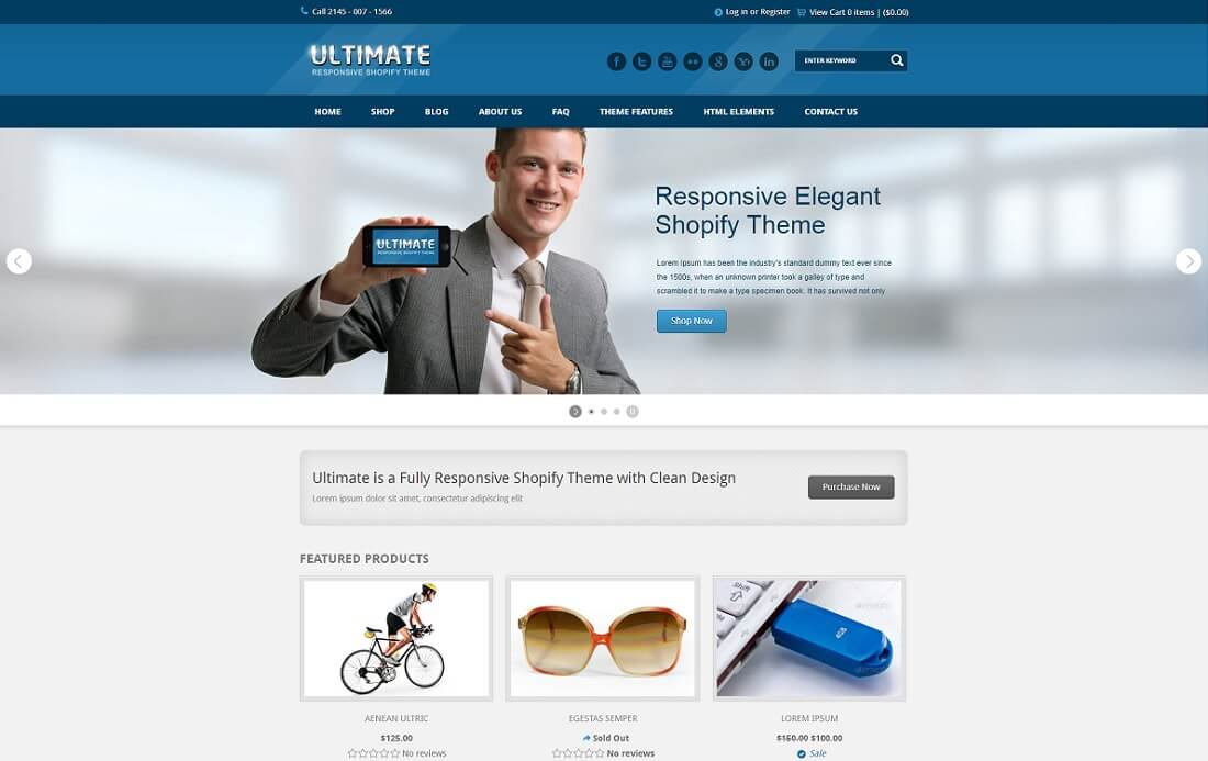 ultimate shopify technology theme
