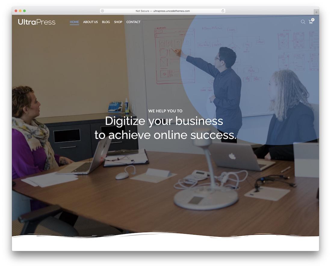 ultrapress free wordpress startup theme