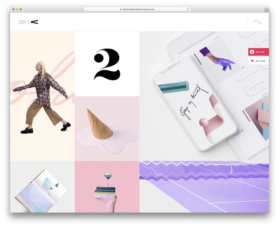 ultraviolette pinterest style wordpress theme