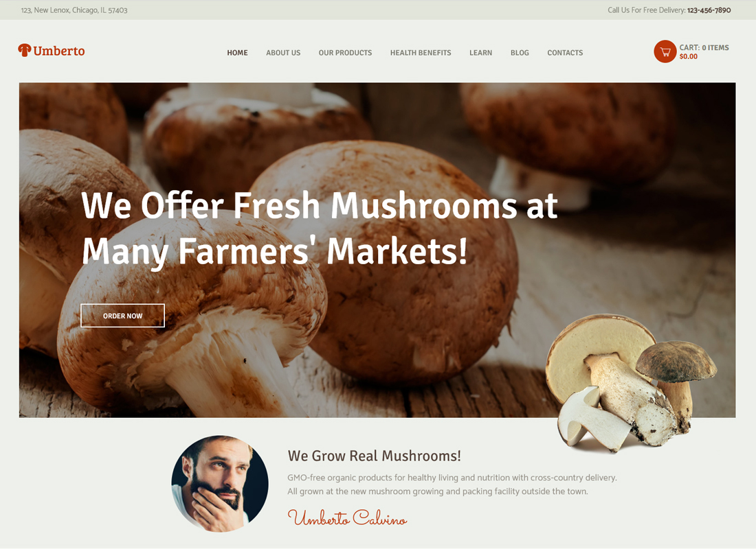 umberto-mushroom-farm-organic-products-store-wp-theme