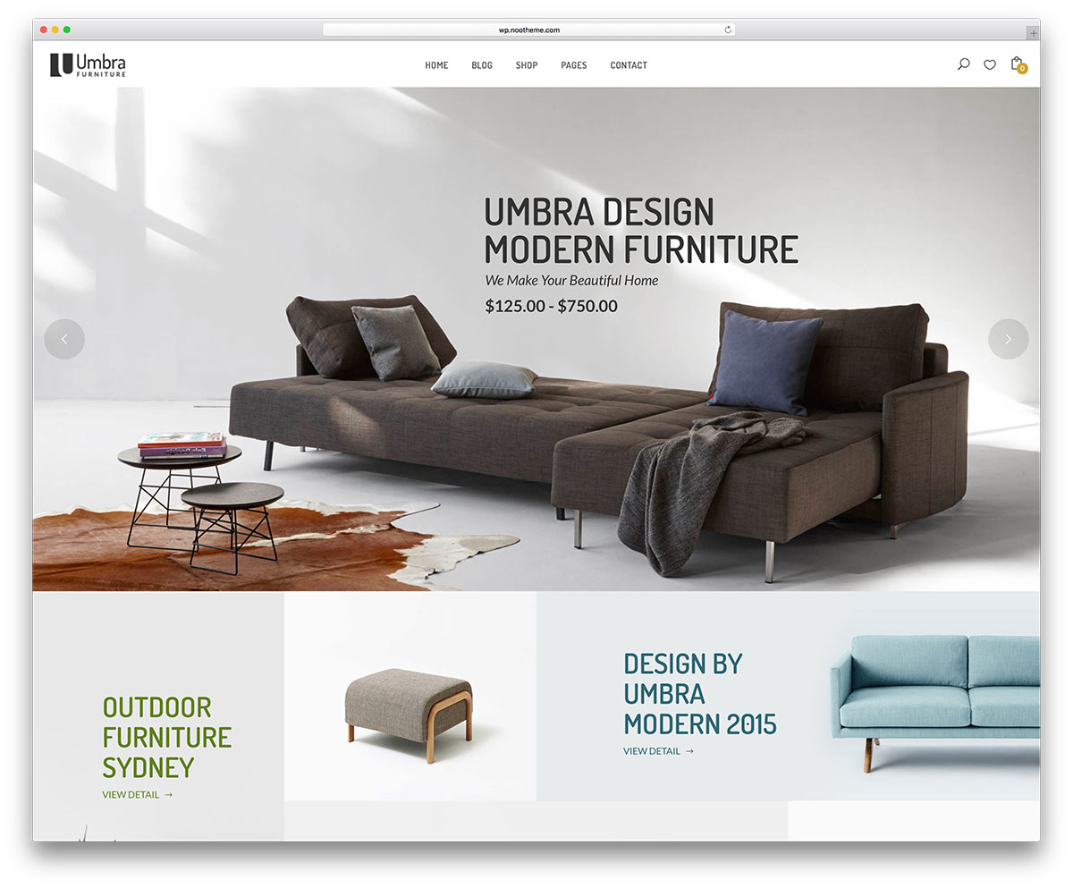 Umbra Furniture Ecommerce Wordpress Theme