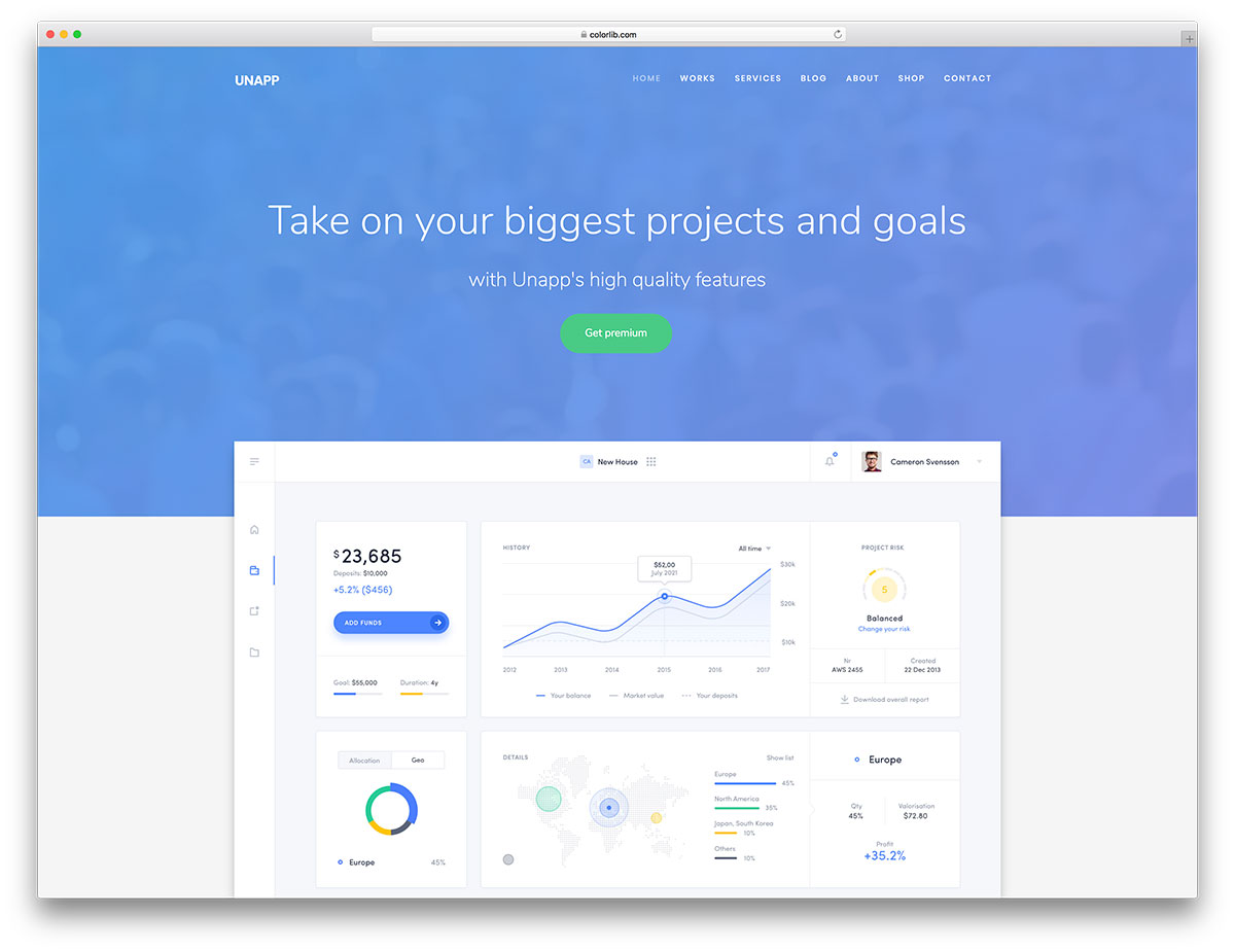 Bootstrap template business free