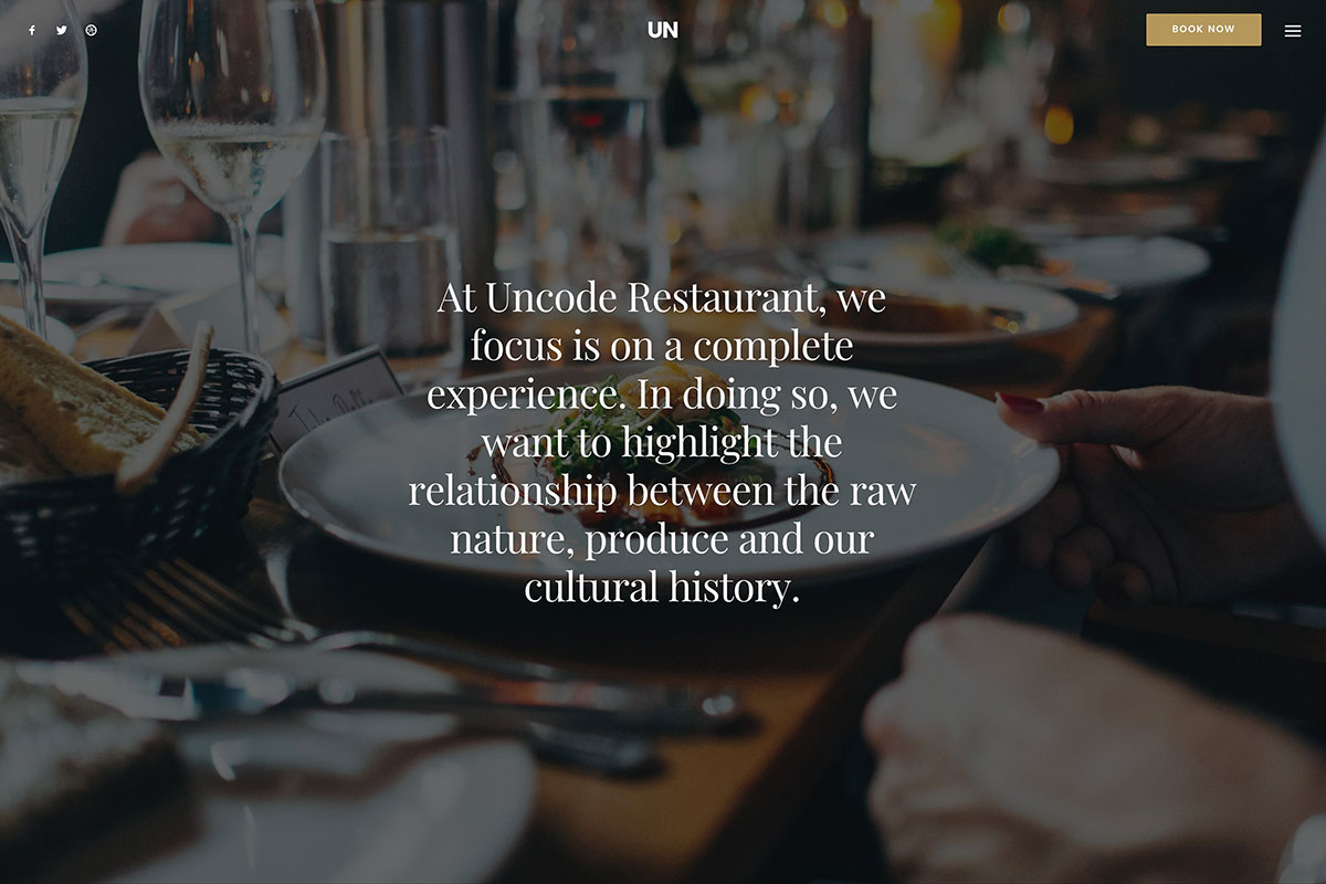 Uncode - modern restaurant WordPress theme