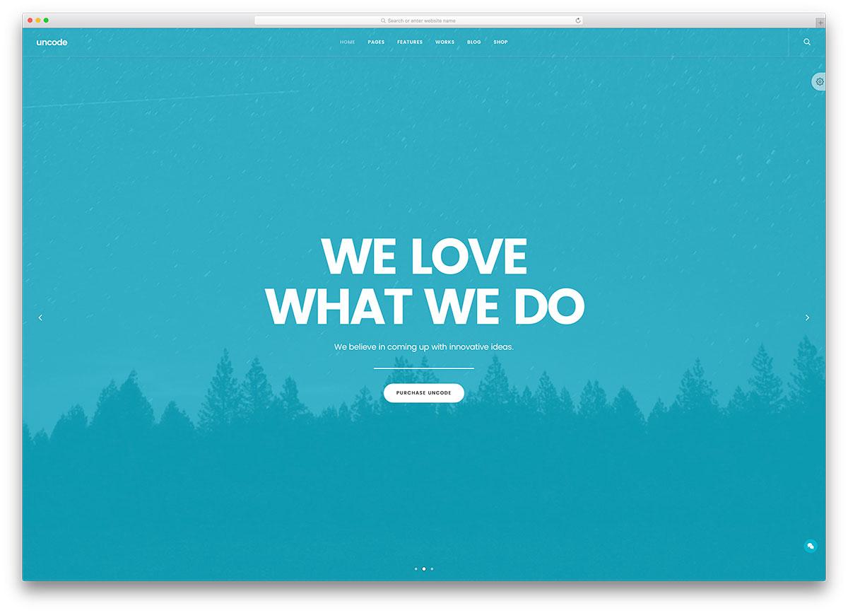 uncode-fullscreen-corproate-wordpress-theme