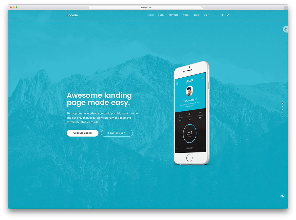 uncode-landing-page-wordpress-website-template