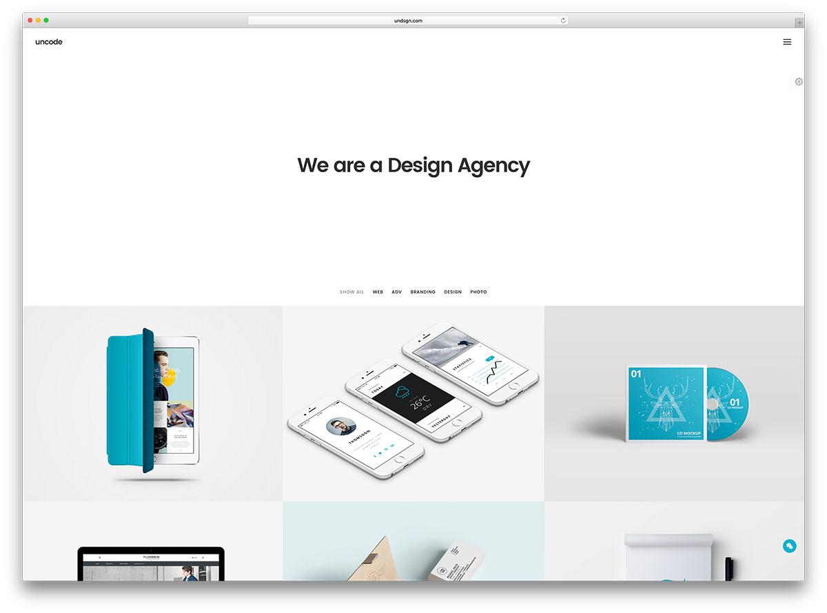 uncode-minimal-portfolio-website-template